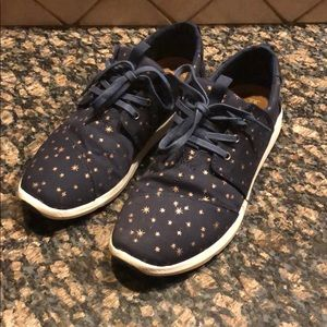 Toms Navy Gold Star Sneakers